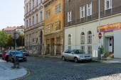 街と街の日常生活。プラハはチェコ共和国の最大の都市と首都. — ストック写真