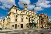 Vinohrady Theatre (Czech: Divadlo na Vinohradech), built in 1905. Prague is the capital and largest city of the Czech Republic. — Stock Photo