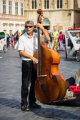 Performance of street musicians performing music in the style of jazz — Stock Photo