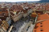 The roofs of old Prague — 图库照片