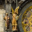 Old Town Hall Tower. Detail of the Prague astronomical clock (Prague orloj). Close up. — Foto de Stock   #60771489