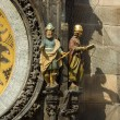 Old Town Hall Tower. Detail of the Prague astronomical clock (Prague orloj). Close up. — Foto de Stock   #60771493