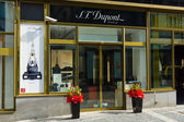 ST Dupont store. ST Dupont has the world's oldest (since 1870), a manufacturer of luxury accesories. — Stock Photo