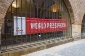 World Press Photo Exhibition. World Press Photo is an independent, non-profit organization, and  the world's largest and most prestigious press photography contest. — Stock Photo