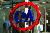 C&A store on the Wenceslas Square. C&A is an international Dutch chain of fashion retail clothing stores (over 34,000 employees) — Stock Photo