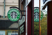 Starbucks Coffee. Starbucks is the largest coffeehouse company in the world, with 20,891 stores in 62 countries. — Stock Photo