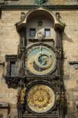 Old Town Hall Tower. Prague astronomical clock (Prague orloj). Close up. — Stock Photo