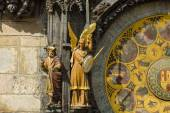Old Town Hall Tower. Detail of the Prague astronomical clock (Prague orloj). Close up. — Stock Photo