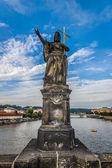 Sculpture of Saint John the Baptist on the Charles Bridge in Prague. Czech Republic. — 图库照片