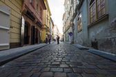 The lanes of the old city. Prague is the capital and largest city of the Czech Republic. — Stock Photo