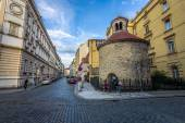 Rotunda Church of the Holy Cross. The oldest Romanesque rotunda in Prague. — Stock Photo