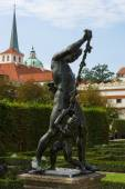 Mythical characters (sculpture) in the garden of the Wallenstein Palace — Stock Photo