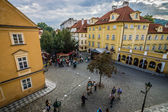 Streets and squares of old Prague. Prague is the capital and largest city of the Czech Republic — Foto de Stock