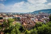 View of the old city from the Lesser Town (Mala Strana) — Stock Photo