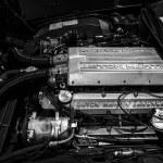 ������, ������: Engine of a luxury car Aston Martin Lagonda close up
