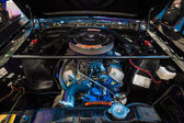 The engine V8 4700cc (289CUI HiPO) of a Ford Mustang Shelby 350GT in the original illumination, 1966. — Stock Photo