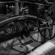 Постер, плакат: Showroom Cabin of a Rolls Royce Phantom I Experimental Sports Tourer by Barker & Co 1926 Black and white