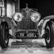 Постер, плакат: Showroom Rolls Royce Phantom I Experimental Sports Tourer by Barker & Co 1926 Black and white