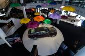 Showroom. Full-size car Rolls-Royce Wraith (2013). Top view. — Stock Photo
