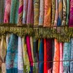 Cashmere scarves. Background. — Stock Photo #68816659