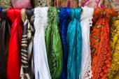 Silk scarves. Background. — Stock Photo