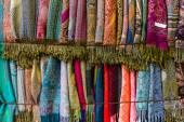Cashmere scarves. Background. — Stock Photo
