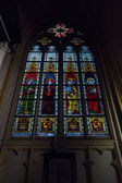 Stained-glass windows. Interior of Basilica of St. Servatius — Stock Photo