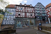 Historic streets of the old quarters of Marburg — Stock Photo
