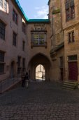 The courtyard of the Marburger Schloss (Marburg castle), is the first residence of Landgraviate of Hesse. — Stockfoto