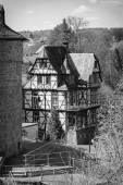 Utility homes in Marburger Schloss (Marburg castle), is the first residence of Landgraviate of Hesse. — Fotografia Stock