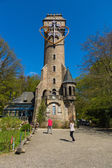 Observation tower and cafe on a hill near Marburg - Kaiser-Wilhelm-Turm (Spiegelslustturm). Built in 1890. — Stock Photo