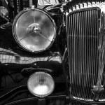 Постер, плакат: Fragment of a luxury car Daimler DE 36 Straight Eight Hooper Landaulet 1949