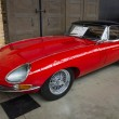 Постер, плакат: British sports car Jaguar E Type Jaguar XK E