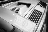 Air vents a mid-engined supercar Lamborghini Countach LP 25th Anniversary, 1990 — Stock Photo