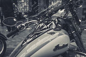 Fragment of a bike Indian Chief Classic close-up — 图库照片