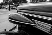 Fragment of a full-size car Buick Century, 1938. Black and white — Stock Photo