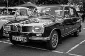 Large family car Renault 16TL. Black and white. — Stock Photo