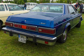 Compact near-luxury car Mercury Monarch coupe, 1977 — Stock Photo