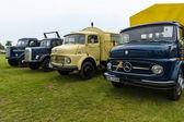 Trucks Daimler-Benz L323, Mercedes-Benz LA 710, Daimler-Benz LAF 311-36 and MAN 620 L1 — Stock Photo