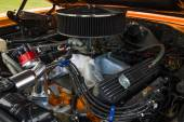 Engine of a muscle car Plymouth GTX, close-up — Stock Photo