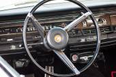 Cabin of a vintage car Chrysler New Yorker, 1965. — Stock Photo