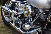片段的哈雷-戴维森摩托车特写. — 图库照片
