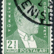 Postage stamp printed in Turkey, depicted the 1st President of Turkey, Mustafa Kemal Pasha (Ataturk) — Stock Photo #78549456