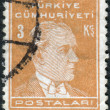 Postage stamp printed in Turkey, depicted the 1st President of Turkey, Mustafa Kemal Pasha (Ataturk) — Stock Photo #78549328