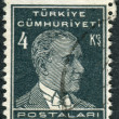 Postage stamp printed in Turkey, depicted the 1st President of Turkey, Mustafa Kemal Pasha (Ataturk) — Stock Photo #78549414