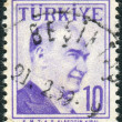 Postage stamp printed in Turkey, depicted the 1st President of Turkey, Mustafa Kemal Pasha (Ataturk) — Stock Photo #78549662