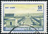 Postage stamp printed in Turkey, shows Ataturk's mausoleum, Ankara — Fotografia Stock