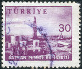 Postage stamp printed in Turkey shows Gasoline refinery, Batman — Stock Photo