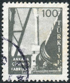 Postage stamp printed in Turkey, depicted Cement factory, Ankara — Stockfoto