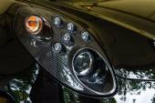 Headlamp of the sports car Alfa Romeo 4C (since 2014). The Classic Days on Kurfuerstendamm. — Stock Photo
